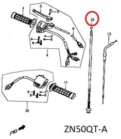 Pico - Remkabel (origineel) nr: 12 - 50QT-A-020300 / M_32896 - (VAK P-34)