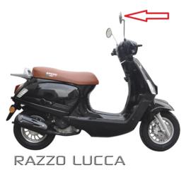 Razzo Lucca - Spiegel Chroom Rechts (M8)