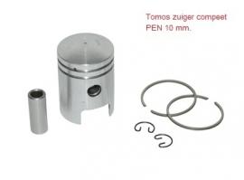 Tomos zuiger A3 - 38mm - pen 10 mm. - compleet (P_56870) (VAK B-88)