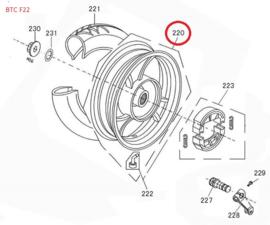 BTC F22 - Velg ACHTER (nr. 220) - BTC.2737.WV.200