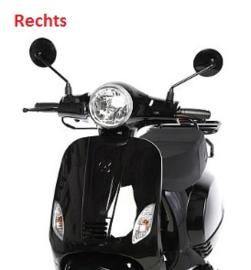 China LX - Spiegel - GLANS ZWART - Rechts - (M8 schroefdraad) (VAK E-30)