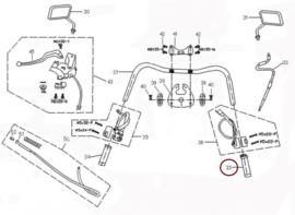 Neco Borsalino DUE 125cc - Gashandvat - nr. 33 (125T-E-020002)