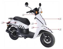 Razzo Milano - Beenschild/Voorkap - nr. 2 (wit dambord) (64304-JKC-9000 B)