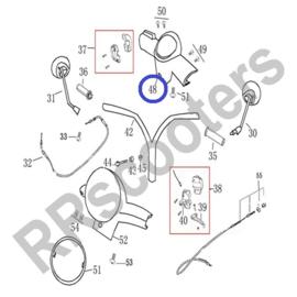 Razzo Latina - Tellerkap (zwart kunststof) - nr. 48 - (SWA 53205-ACAE-9000)