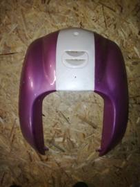 5 - Retro - kappenset - voorfront/voorkap - U-grille - Two Tone - Kleur: roze/creme