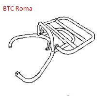 BTC Roma - Klapdrager / Bagagedrager chroom ACHTER - 81200-AAA5-9000