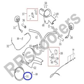 Razzo Latina - Koplampring (chroom) - nr. 51 - (BTC.3177.PK.430)