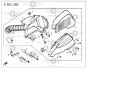 BTC Trevis - Luchtfilterelement - nr. 3 - 7B1-25200-0000