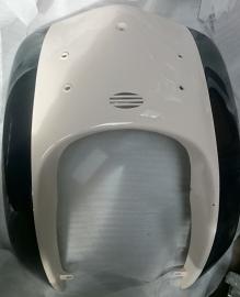 5 - Retro kappenset Voorkap / voorfront (zwart/creme)