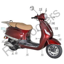 Razzo Toscana - Voorkap (nr. 7) - Bordeaux - HT50QT-12-02-01 LF-019