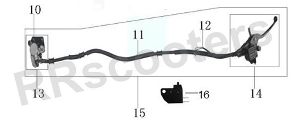 Turbho CZ-50 - Compleet Voor-remsysteem (nr. 15) - 1.19.3560.13560190070404