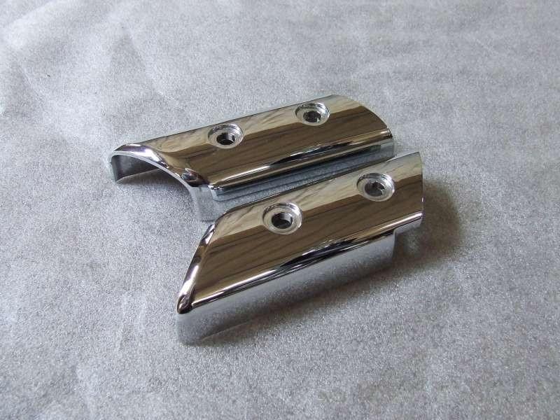 chroom afdekking voorvork rechts en links (VAK B-71)