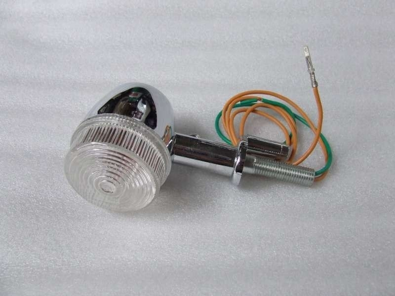 richtingaanwijzer / knipperlicht bij achterlicht, links of rechts, WITTE glaasjes (VAK B-26)