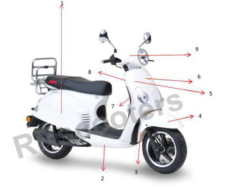 Motobi Rimini - Achter scherm wit RECHTS - (nr. 1) - 601202-TAMD-0001WHI