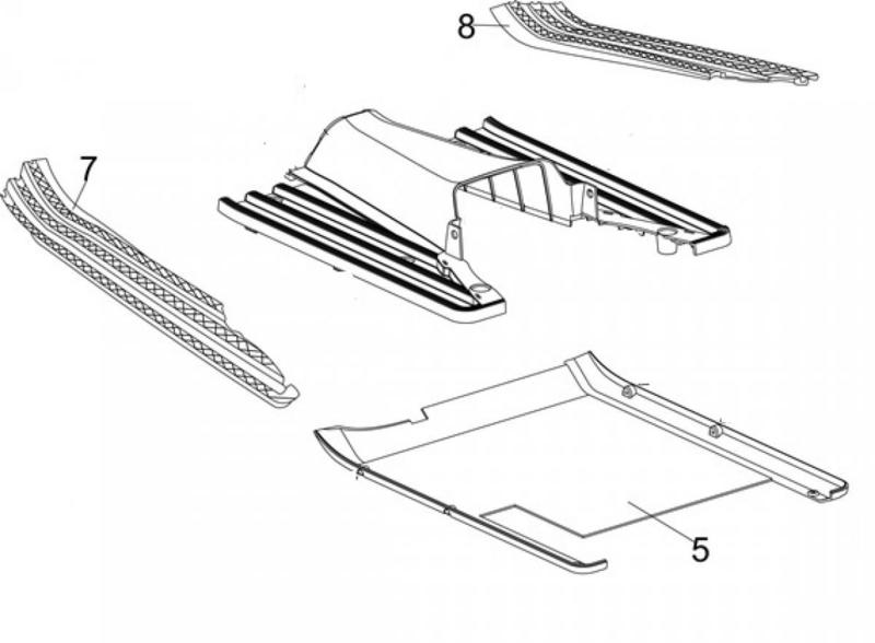 Neco Abruzzi '65 - Voetrubber RECHTS - nr. 8 - J08-X1920-00