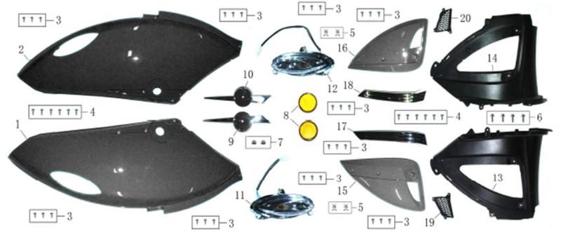 Razzo Pisa - Knipperlicht LINKS ACHTER (nr. 11) - JN50QT-11D-06-11