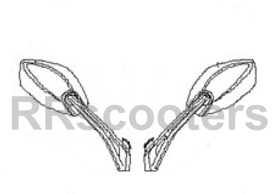 Neco GPX - Spiegel LINKS (nr. 10) - MQBK-81710-3000