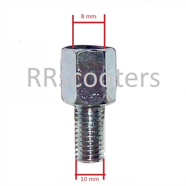 spiegel verloop adapter van 8-> 10 mm. (Vak 107) (M_4999)