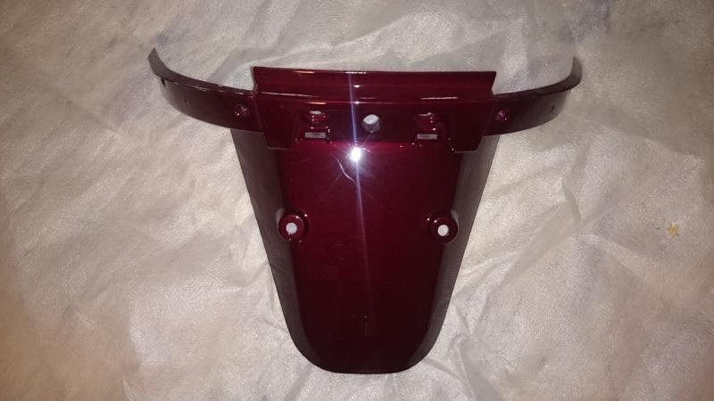 Kappen - China LX - Achter Spatbord (kentekenplaathouder) (bordeaux) - (Z-2 / nr: 5908)