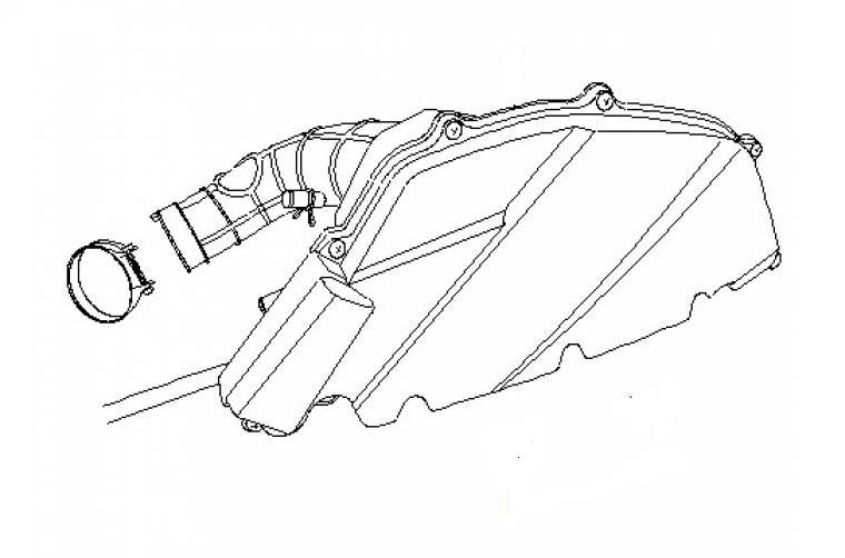Neco Agira (125cc.) - Luchtfilterhuis compleet met luchtfilterelement - 172000-152QMI-0200