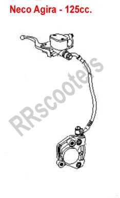 Neco Agira (50cc.) - Voor-rem compleet - 404000-TAMD-0400