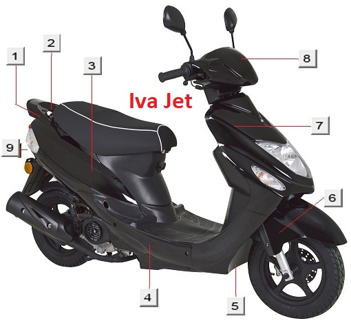 Iva Jet - Voorkap - kleur: zwart (nr. 7)