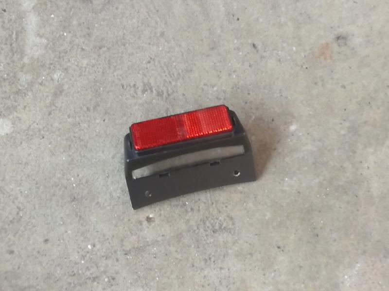 GTS Toscana - Kentekenplaatverlichting (gebruikt) - (Mat Carbon Black)  -  (VAK Z / 61-13)