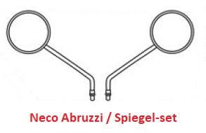 Neco Abruzzi - Spiegel-set (Links & Rechts) - Kleur: ZWART - 89200-J23-0000BLA (VAK E-30) + 2x verloop (VAK B-107)