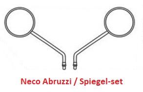 Neco Abruzzi - Spiegel-set (Links & Rechts) - Kleur: ZWART - 89200-J23-0000BLA