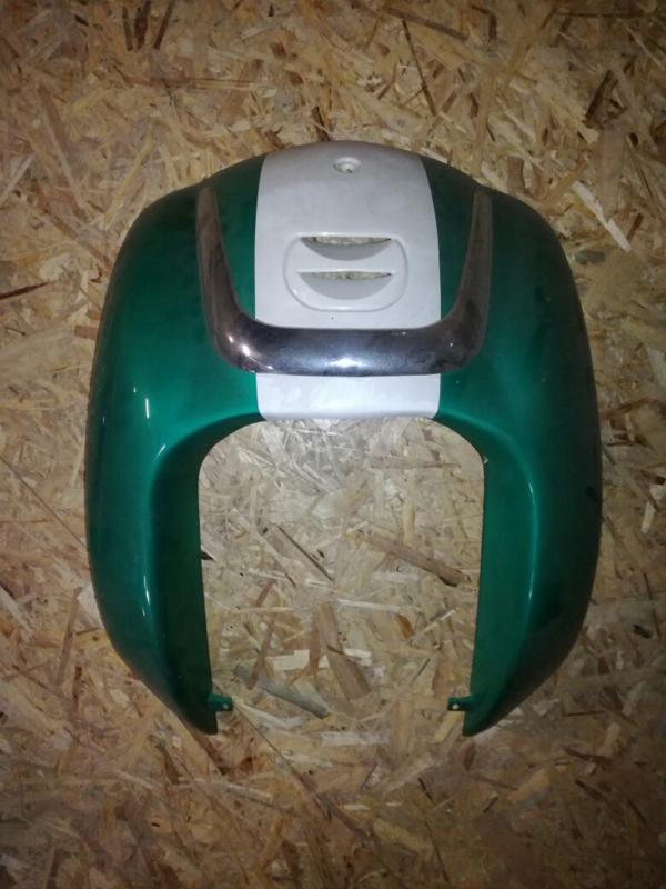 5 - Retro - kappenset - voorfront/voorkap - U-grille - Two Tone - Kleur: groen/creme