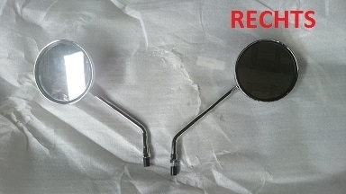 BTC Old Classic Luxe - Spiegel chroom RECHTS - (M8 schroefdraad)
