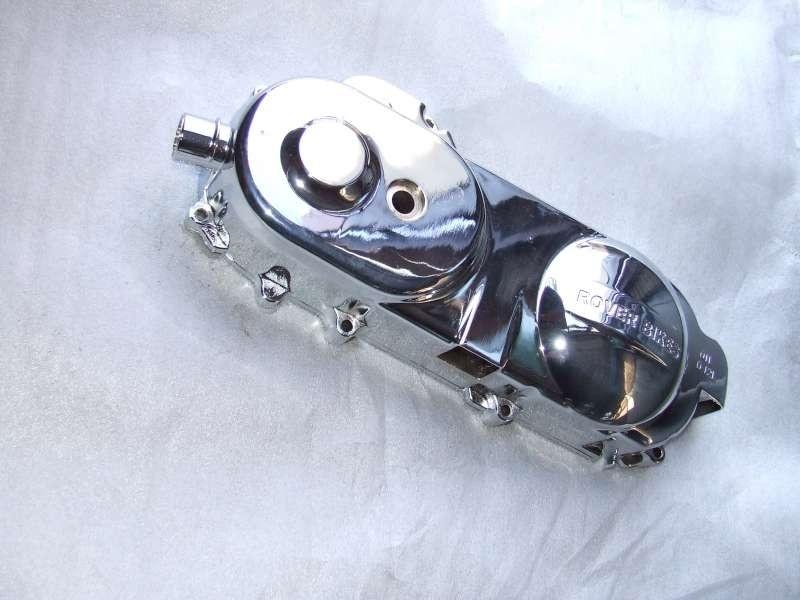 VOM Bella Milano - kickstartdeksel / variodeksel links chroom 10 inch. / Carterdeksel (VAK D-7)