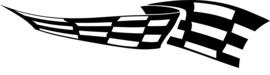 Race Vlag Motief 11  sticker