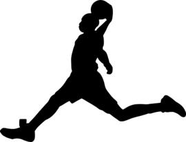 Basketbal Sticker Motief 3