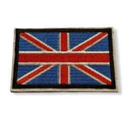 Great Britain Vlag Badge Strijk Patch |  7,2 x 4,7 cm