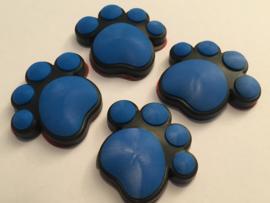 3D Honden / Katten poot Deurbeschermer Blauw | Set 4st.