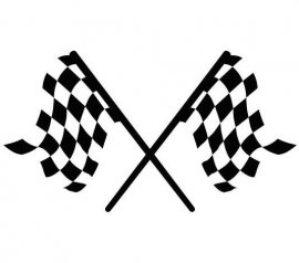 Race Vlag Motief 2  sticker