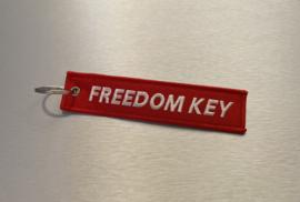 Freedom Key Sleutelhanger | Rood