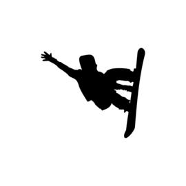 Snowboarden Sticker Motief 2