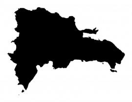 Dominicaanse Republiek Map sticker