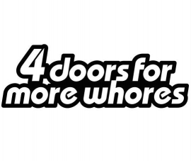 4 Doors Motief 1 sticker