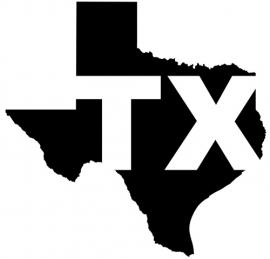 Texas State Motief 3 sticker