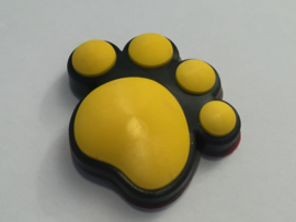 3D Honden / Katten poot Deurbeschermer Geel | 1st.