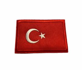 Turkse Vlag Badge Strijk Patch