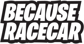 Because Race Car Motief 2 sticker