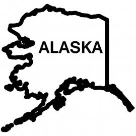 Alaska State sticker