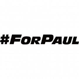 # For Paul Walker Sticker