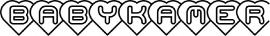 Babykamer Motief 2 Sticker