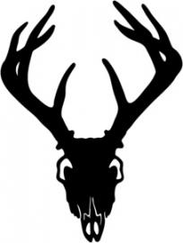 Hert Kop Motief 3 sticker