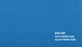 Oracal 970RA 197  Wrap Folie  Mat Azur Blauw Metallic